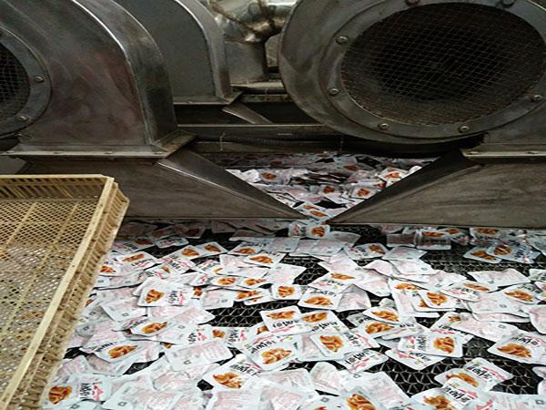 【客户案例】杭州客户洗袋机吹干